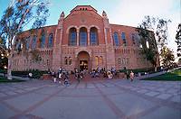 Exterior of the library at UCLA, University of California at Los Angeles. Los Angeles, California.