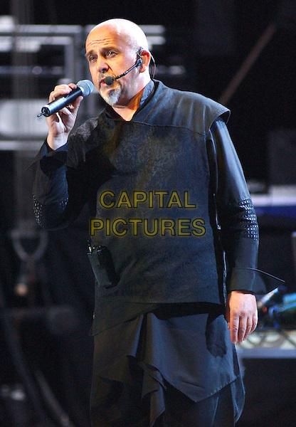 PETER GABRIEL .Performs during his 'Growing Up Tour' held at The Verizon Wireless Ampitheater in Irvine..stage, concert, live, music, performing, singing, half length, half-length.www.capitalpictures.com.sales@capitalpictures.com.©Capital Pictures