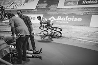 1 of the U23 riders got unwell during the madison & needed medical attention<br /> <br /> 2016 Gent 6<br /> day 5