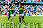 Marc Ó Sé and Aidan O'Mahony Kerry players after being defeated by Dublin in the All Ireland Senior Football Semi Final at Croke Park on Sunday.