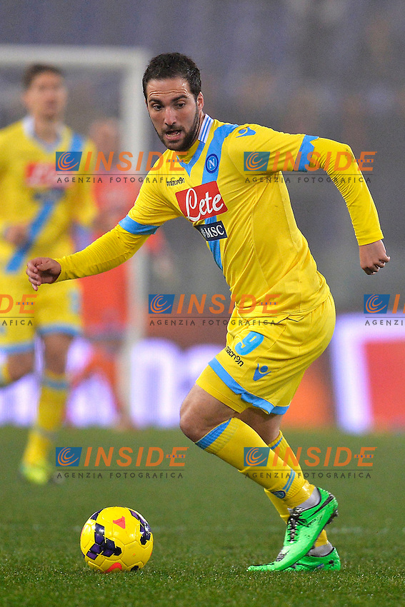 Gonzalo Higuain Napoli <br /> Roma 05-02-2014 Stadio Olimpico - Football Calcio Coppa Italia 2013/2014 AS Roma - Napoli Foto Andrea Staccioli / Insidefoto