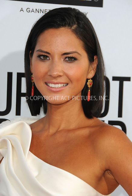 "WWW.ACEPIXS.COM . . . . . ....August 16, 2011, LA... Olivia Munn arrives at the premiere of ""Our Idiot Brother"" on August 16, 2011 in Hollywood, California......Please byline: PETER WEST - ACE PICTURES.... *** ***..Ace Pictures, Inc: ..Philip Vaughan (212) 243-8787 or (646) 679 0430..e-mail: info@acepixs.com..web: http://www.acepixs.com."