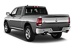 Rear three quarter view of a 2013 Dodge RAM 1500 Big Horn Crew Cab