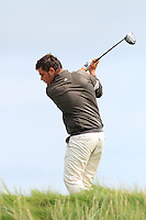 Stuart Bleakley (Shandon Park) on the 6th tee during the Quarter Finals of The South of Ireland in Lahinch Golf Club on Tuesday 29th July 2014.<br /> Picture:  Thos Caffrey / www.golffile.ie