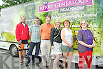 North Kerry Reaching Out: The Mihalicz from Beausal, Saskatchewan, Canada who with the help of North Kerry Reaching  Out traced their roots to Clounamon, Ballylongford pictured at the Kerry Genealogy Roadshow wagon in Listowel on Saturday last. Jared Osmond, Newfoundland, Ger Greaney & Damian Stack, NKRO, Charlotte, Debbie & Angie Mihalicz.