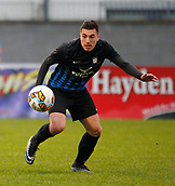 8th September 2017, Athlone Town Stadium, Athlone, Ireland; Match fixing charges brought against two Athlone Town Players; Dragos Sfrijan in action, who was recently banned for 12 months by the FAI for match fixing