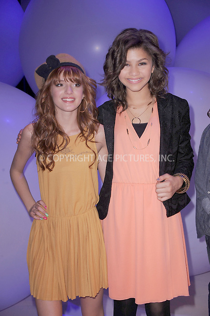 WWW.ACEPIXS.COM . . . . . .March 16, 2011...New York City...Bella Thorne and Zendaya attend Disney Kids and Family Upfront on March 16, 2011 in New York City....Please byline: KRISTIN CALLAHAN - ACEPIXS.COM.. . . . . . ..Ace Pictures, Inc: ..tel: (212) 243 8787 or (646) 769 0430..e-mail: info@acepixs.com..web: http://www.acepixs.com .