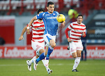 Hamilton Accies v St Johnstone...31.10.15  SPFL  New Douglas Park, Hamilton<br /> Graham Cummins breaks forward<br /> Picture by Graeme Hart.<br /> Copyright Perthshire Picture Agency<br /> Tel: 01738 623350  Mobile: 07990 594431