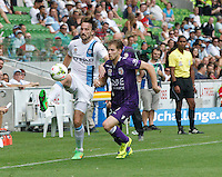 during the  A-League soccer match between Melbourne City FC and Perth Glory at AAMI Park on February 22, 2015 in Melbourne, Australia.