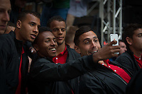 New York, NY - Friday, May 30,  2014:  USMNT Fan Recognition event in Times Square, presented by ESPN.