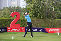 Joost Luiten (NED) on the 2nd tee during Round 1 of the Omega Dubai Desert Classic, Emirates Golf Club, Dubai,  United Arab Emirates. 24/01/2019<br /> Picture: Golffile | Thos Caffrey<br /> <br /> <br /> All photo usage must carry mandatory copyright credit (&copy; Golffile | Thos Caffrey)