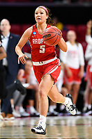 College Park, MD - March 23, 2019: Radford Highlanders guard Jen Falconer (5) brings the ball up court during first round action of game between Radford and Maryland at Xfinity Center in College Park, MD. Maryland defeated Radford 73-51. (Photo by Phil Peters/Media Images International)