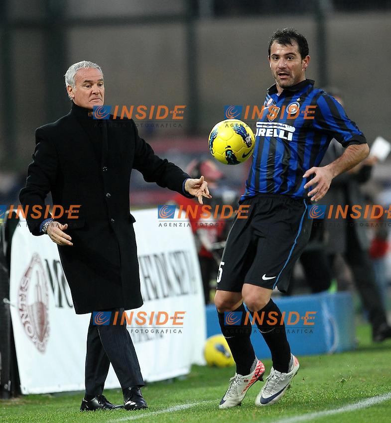 Claudio RANIERI e Dejan STANKOVIC Inter.Siena 27/11/2011 Stadio Artemio Franchi.Football Calcio Serie A 2011/2012.Siena Vs Inter.Foto Insidefoto Andrea Staccioli
