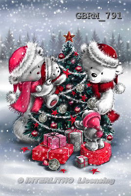 Roger, CHRISTMAS ANIMALS, paintings+++++,GBRM791,#XA#
