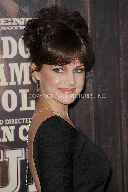 WWW.ACEPIXS.COM . . . . . .December 14, 2010...New York City...Carla Gugino attends the premiere of 'True Grit' at the Ziegfeld Theatre on December 14, 2010 in New York City. ....Please byline: KRISTIN CALLAHAN - ACEPIXS.COM.. . .Ace Pictures, Inc: ..tel: (212) 243 8787 or (646) 769 0430..e-mail: info@acepixs.com..web: http://www.acepixs.com .