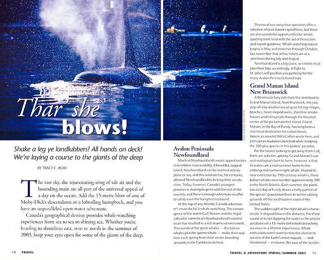 Canadian Geographic Travel Magazine Dale Sanders