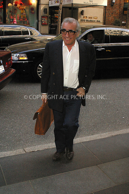 WWW.ACEPIXS.COM . . . . .  ....NEW YORK, APRIL 21, 2005....Martin Scorsese is seen entering an upper east side hotel.....Please byline: PAUL CUNNINGHAM - ACE PICTURES..... *** ***..Ace Pictures, Inc:  ..Craig Ashby (212) 243-8787..e-mail: picturedesk@acepixs.com..web: http://www.acepixs.com