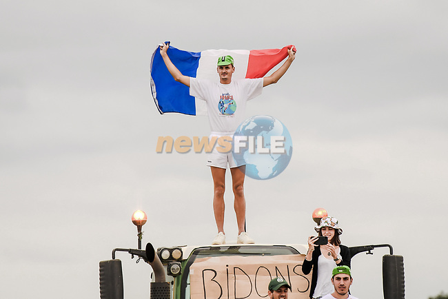 French fan during Stage 12 of the 2019 Tour de France running 209.5km from Toulouse to Bagneres-de-Bigorre, France. 18th July 2019.<br /> Picture: ASO/Pauline Ballet | Cyclefile<br /> All photos usage must carry mandatory copyright credit (© Cyclefile | ASO/Pauline Ballet)