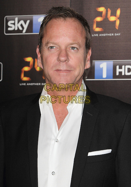 LONDON, ENGLAND - MAY 06:  Kiefer Sutherland attends the UK premiere of '24: Live Another Day' at Old Billingsgate Market on May 6, 2014 in London, England<br /> CAP/ROS<br /> &copy;Steve Ross/Capital Pictures