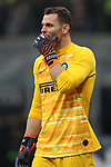 Daniele Padelli of Inter reacts during the Coppa Italia match at Giuseppe Meazza, Milan. Picture date: 12th February 2020. Picture credit should read: Jonathan Moscrop/Sportimage