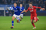 11.12.2018, VELTINS Arena, Gelsenkirchen, Deutschland, GER, UEFA Champions League, Gruppenphase, Gruppe D, FC Schalke 04 vs. FC Lokomotiv Moskva / Moskau<br /> <br /> DFL REGULATIONS PROHIBIT ANY USE OF PHOTOGRAPHS AS IMAGE SEQUENCES AND/OR QUASI-VIDEO.<br /> <br /> im Bild Zweikampf zwischen Amine Harit (#25 Schalke) und Maciej Rybus (#31 Moskau)<br /> <br /> Foto © nordphoto / Kurth