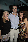 Terri and Austin Peck & Anne Sayre Weight: The Series held its premiere party on October 8, 2014 at Galway Pub, New York City, New York. (Photo by Sue Coflin/Max Photos)