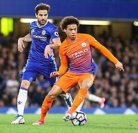 Cesc Fabregas of Chelsea and Leroy Sane of Manchester City during the Premier League match between Chelsea and Manchester City at Stamford Bridge on April 5th 2017 in London, England.<br /> Foto PHC Images / Panoramic / Insidefoto <br /> ITALY ONLY