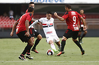 SÃO PAULO, SP, 18.03.2017 - SÃO PAULO-ITUANO- Luiz Araujo do São Paulo Futebol Clube durante partida contra o Ituano válida pela 9ª rodada do Campeonato Paulista 2017, no Estadio Cicero Pompeu de Toledo,  na tarde desta sábado, 18.(Foto: Adriana Spaca/Brazil Photo Press)