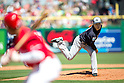 Masahiro Tanaka (Yankees),<br /> MARCH 6, 2016 - MLB :<br /> Masahiro Tanaka of the New York Yankees pitches during a spring training baseball game against the Philadelphia Phillies at Bright House Field in Clearwater, Florida, United States. (Photo by Thomas Anderson/AFLO) (JAPANESE NEWSPAPER OUT)