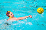 LOS ANGELES, CA - MAY 13: Paige Hauschild #5 of the University of Southern California attempts a pass during the Division I Women's Water Polo Championship held at the Uytengsu Aquatics Center on the USC campus on May 13, 2018 in Los Angeles, California. USC defeated Stanford 5-4. (Photo by Tim Nwachukwu/NCAA Photos via Getty Images)