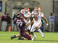 Blacksburg, VA - September 30, 2017: Clemson Tigers quarterback Kelly Bryant (2) runs the ball during the game between Clemson and VA Tech at  Lane Stadium in Blacksburg, VA.   (Photo by Elliott Brown/Media Images International)