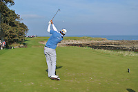 Peter Uihlein (USA) on the 15th tee during Round 3 of the 2015 Alfred Dunhill Links Championship at Kingsbarns in Scotland on 3/10/15.<br /> Picture: Thos Caffrey | Golffile