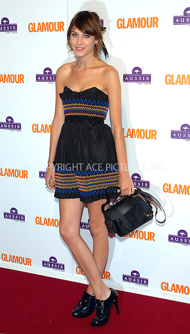 Alexa Chung at the Glamour Women Of The Year Awards in London - 03 June 2008..FAMOUS PICTURES AND FEATURES AGENCY 13 HARWOOD ROAD LONDON SW6 4QP UNITED KINGDOM tel +44 (0) 20 7731 9333 fax +44 (0) 20 7731 9330 e-mail info@famous.uk.com www.famous.uk.com.FAM23216