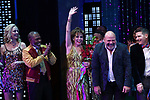 "Angie Schworer, Michael Potts, Beath Leavel, Casey Nicholaw and Chad Beguelin during the Broadway Opening Night Curtain Call of ""The Prom"" at The Longacre Theatre on November 15, 2018 in New York City."