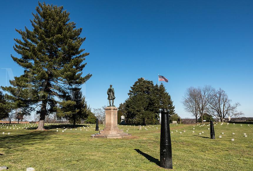The Humphreys' Division Monument, Fredericksburg National Military Park, Fredericksburg, Virginia, USA