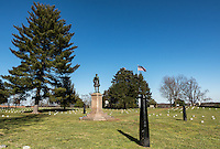 The Humphreys' Division Monument, Fredericksburg National Military Park, Fredericksburg, Virginia, USA
