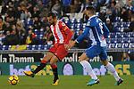 League Santander 2017-2018 - Game: 15.<br /> RCD Espanyol vs Girona FC: 0-1.<br /> Christian Stuani vs David Lopez.