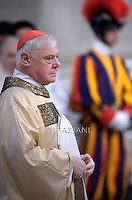 cardinal Gerhard Ludwig Muller,,Pope Francis Chrismal mass in the morning of Holy Thursday at St Peter's basilica.April 2,2015