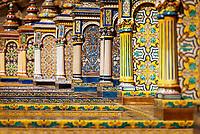 Spanien, Andalusien, Sevilla: Palacio Espanol, Plaza de Espana, Kachelbild  | Spain, Andalusia,Seville: Palacio Espanol, Plaza de Espana, azulejos
