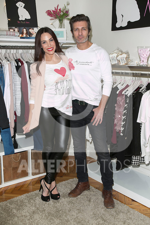 Nerea Garmendia and Jesus Olmedo attend the presentation of the first shop in Madrid of Nerea Garmendia Brand By Nerea, Spain. January 13 2015. (ALTERPHOTOS/Carlos Dafonte)