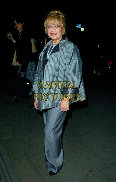 "ELAINE PAIGE.Attending ""The Drowsy Chaperone"" Gala performance,.Waldorf Hilton Hotel, London, England, July 10th 2007..full length grey jacket suit trousers.CAP/CAN.©Can Nguyen/Capital Pictures"