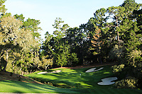 A general view of the 12th hole Par 3 Spyglass Hill Golf Course during the first round of the AT&amp;T Pro-Am, Pebble Beach Golf Links, Monterey, California, USA. 07/02/2019<br /> Picture: Golffile | Phil Inglis<br /> <br /> <br /> All photo usage must carry mandatory copyright credit (&copy; Golffile | Phil Inglis)