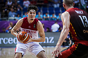 5th September 2017, Fenerbahce Arena, Istanbul, Turkey; FIBA Eurobasket Group D; Turkey versus Belgium; Small Forward Cedi Osman of Turkey in action with a ball during the match