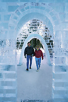 Ice chapel at the World Ice Art Championships in Fairbanks, Alaska.