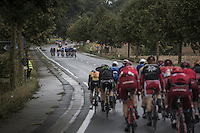 With strong winds from the start, it doesn't take long before echelons start forming: <br /> the 1st break in the peloton (that would never thereafter re-group) was made after only 20 km's of racing and left the major part of the peloton out of the race... <br /> <br /> Tour de l'Eurom&eacute;tropole 2016 (1.1)<br /> Poperinge &rsaquo; Tournai (196km)/ Belgium