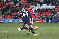 Fleetwood Town's Paddy Madden  scores his sides first goal  <br /> <br /> Photographer Mick Walker/CameraSport<br /> <br /> The EFL Sky Bet League One - Fleetwood Town v Luton Town - Saturday 16th February 2019 - Highbury Stadium - Fleetwood<br /> <br /> World Copyright © 2019 CameraSport. All rights reserved. 43 Linden Ave. Countesthorpe. Leicester. England. LE8 5PG - Tel: +44 (0) 116 277 4147 - admin@camerasport.com - www.camerasport.com