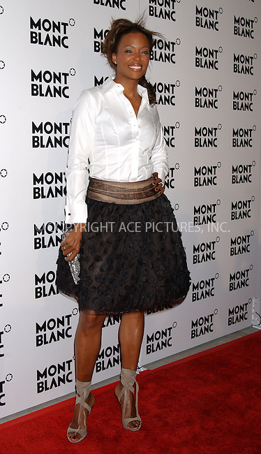 WWW.ACEPIXS.COM....March 14 2006, New York City....Aisha Tyler attends a party to celebrate Montblanc's 100th Anniversary at The Newspace in Manhattan.......Byline:  KRISTIN CALLAHAN - ACEPIXS.COM....For information please contact:....Philip Vaughan, 212 243 8787 or 646 769 0430..Email: info@acepixs.com..Web: WWW.ACEPIXS.COM