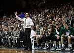 SIOUX FALLS, SD: MARCH 25:  Northwest Missouri State head coach Ben McCollum talks to his players during the Men's Division II Basketball Championship game against Fairmont State on March 25, 2017 at the Denny Sanford Premier Center in Sioux Falls, SD. (Photo by Dick Carlson/Inertia)