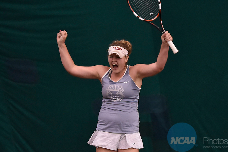 26 APR 2015: The 2015 Mountain West Women's Tennis Championship takes place at the McKinnon Family Tennis Stadium in Albuquerque, NM. Justin Tafoya/NCAA Photos