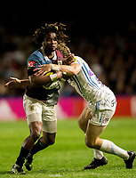 Harlequins' Marland Yarde in action during todays match<br /> <br /> Photographer Bob Bradford/CameraSport<br /> <br /> Aviva Premiership Round 20 - Harlequins v Exeter Chiefs - Friday 14th April 2016 - The Stoop - London<br /> <br /> World Copyright &copy; 2017 CameraSport. All rights reserved. 43 Linden Ave. Countesthorpe. Leicester. England. LE8 5PG - Tel: +44 (0) 116 277 4147 - admin@camerasport.com - www.camerasport.com